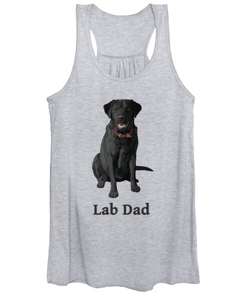 Black Labrador Retriever Lab Dad Women's Tank Top