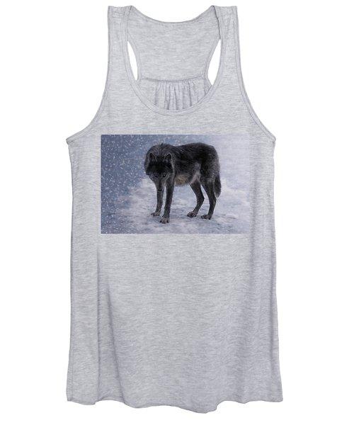 Black She-wolf Women's Tank Top
