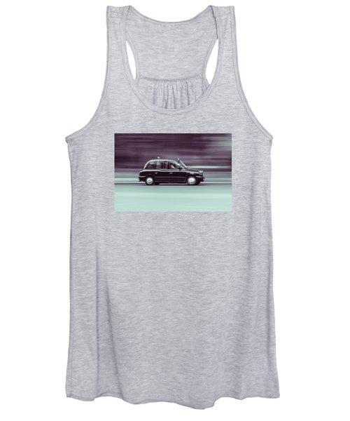 Black Taxi Bw Blur Women's Tank Top