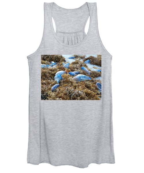 Seeing Blue At The Beach Women's Tank Top