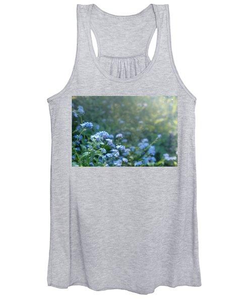 Blue Blooms Women's Tank Top