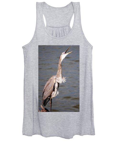 Blue Heron Calling Women's Tank Top