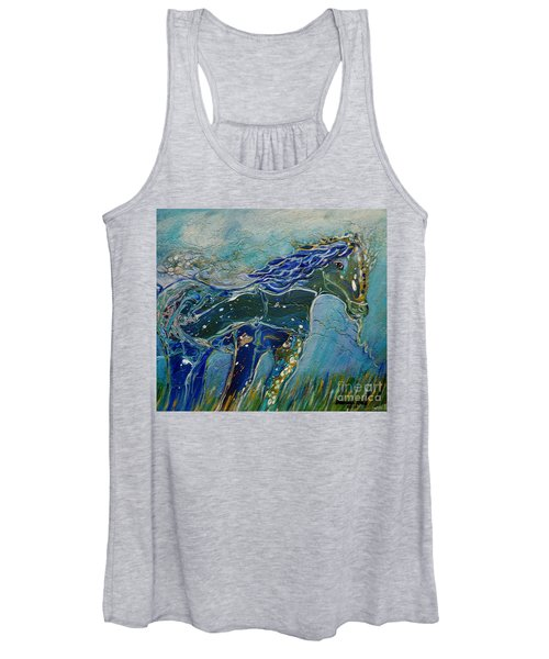 Blue Horse Women's Tank Top