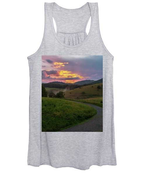Blue Ridge Sunset Women's Tank Top