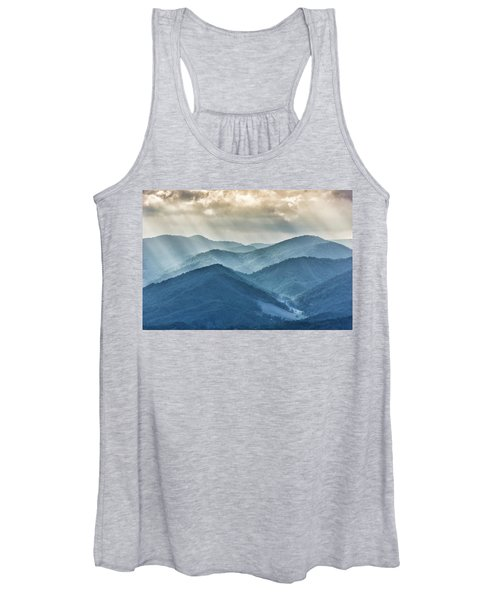 Blue Ridge Sunset Rays Women's Tank Top