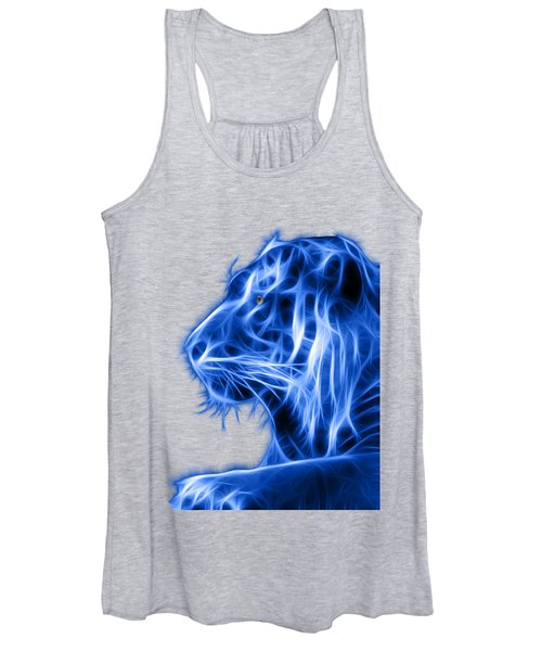 Women's Tank Top featuring the photograph Blue Tiger by Shane Bechler