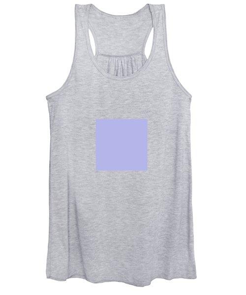 Blue Ultra Soft Lavender Colour Palette Women's Tank Top