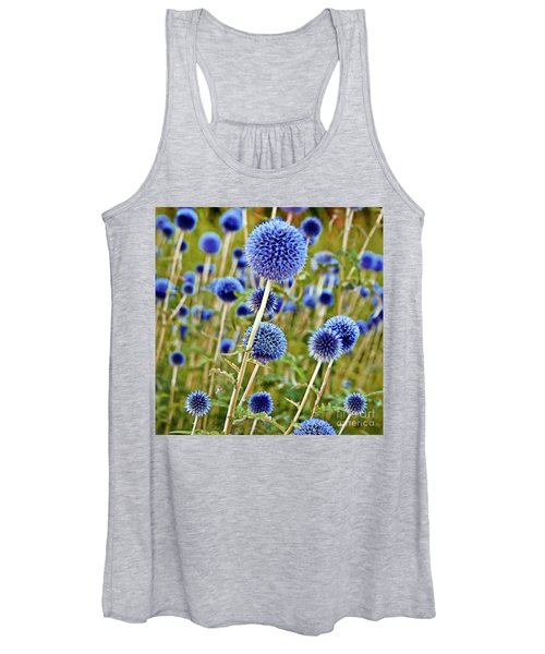 Blue Wild Thistle Women's Tank Top