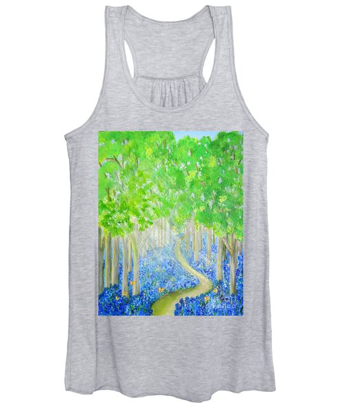 Bluebell Wood With Butterflies Women's Tank Top