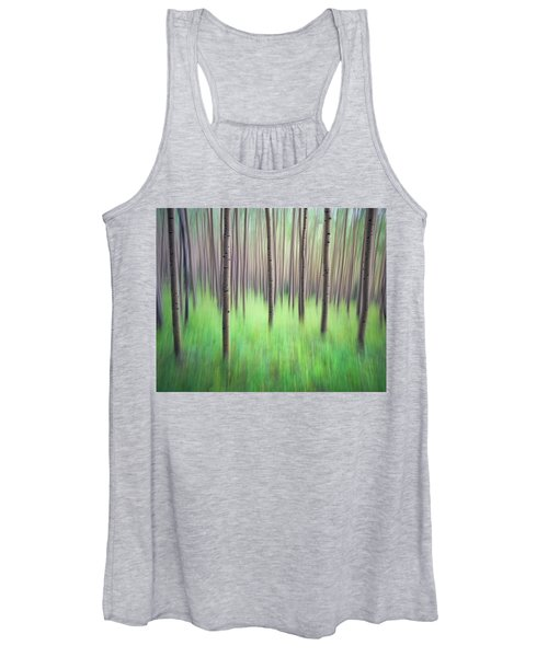 Blurred Aspen Trees Women's Tank Top