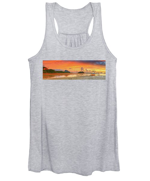 Boat At Sunset Women's Tank Top