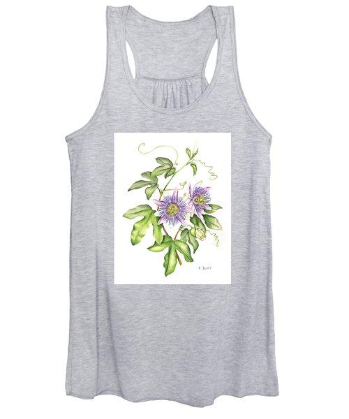 Botanical Illustration Passion Flower Women's Tank Top