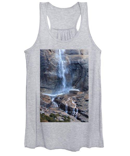 Bottom Part Of Upper Yosemite Waterfall Women's Tank Top