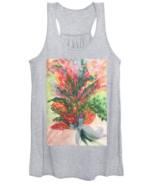 Bouquet And Ribbon Women's Tank Top