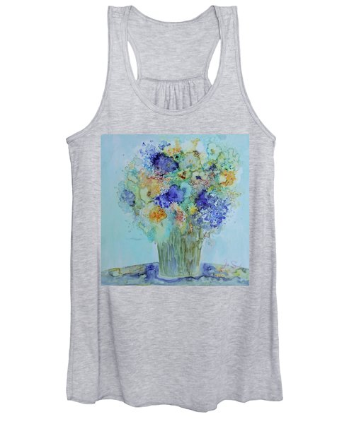 Bouquet Of Blue And Gold Women's Tank Top