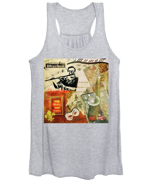 Bourbon Street Collage Women's Tank Top
