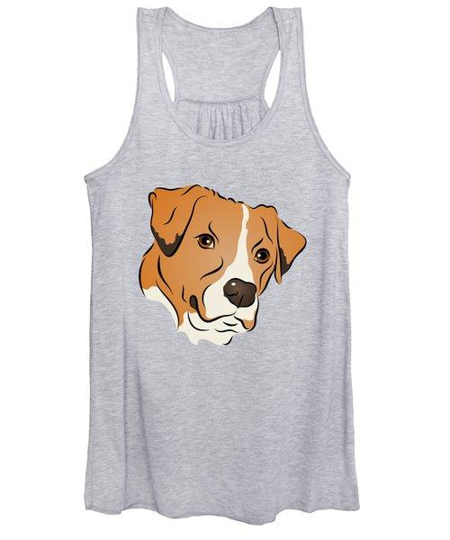 Boxer Mix Dog Graphic Portrait Women's Tank Top