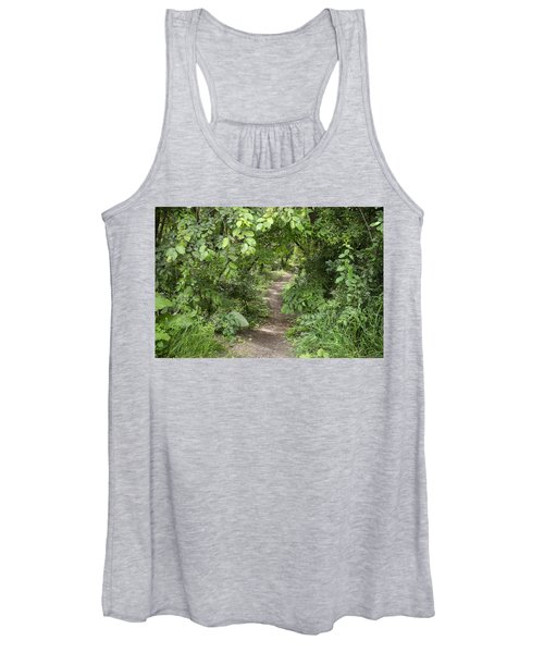 Bright Path In Leafy Forest Women's Tank Top