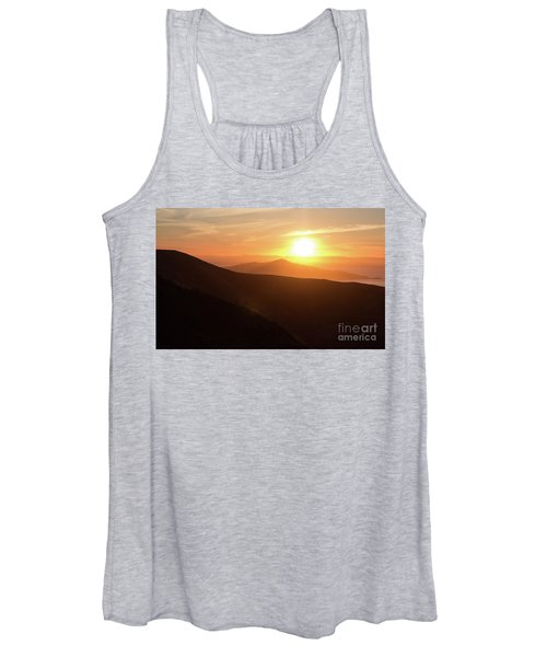 Bright Sun Rising Over The Mountains Women's Tank Top