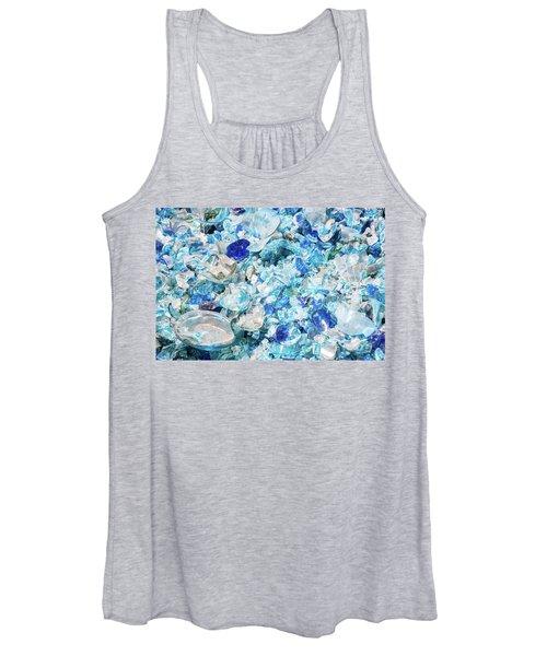 Broken Glass Blue Women's Tank Top