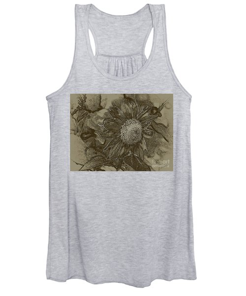 Bronzed Out Sunflower Women's Tank Top