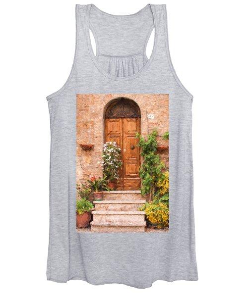 Brown Door Of Tuscany Women's Tank Top