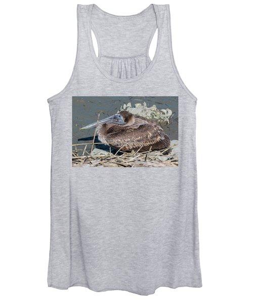Brown Pelican 3 March 2018 Women's Tank Top
