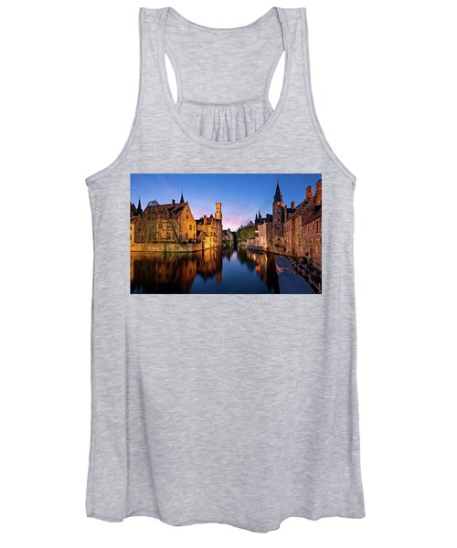 Bruges Canals At Blue Hour Women's Tank Top