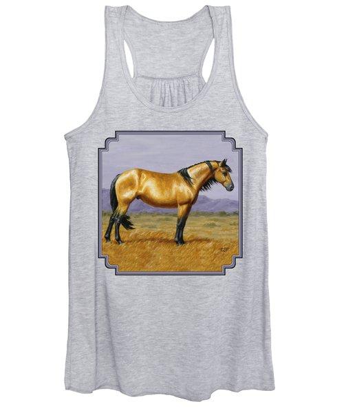 Buckskin Mustang Stallion Women's Tank Top