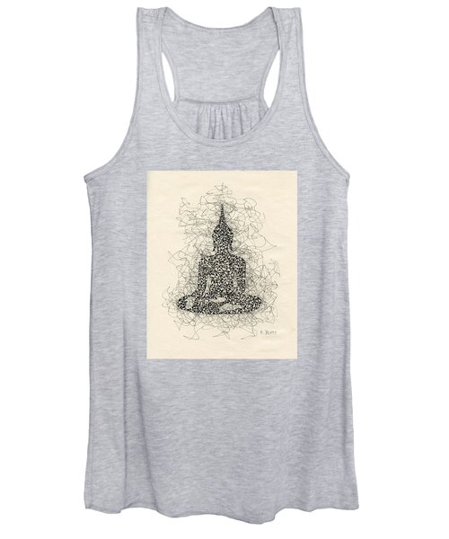 Buddha Pen And Ink Drawing Women's Tank Top
