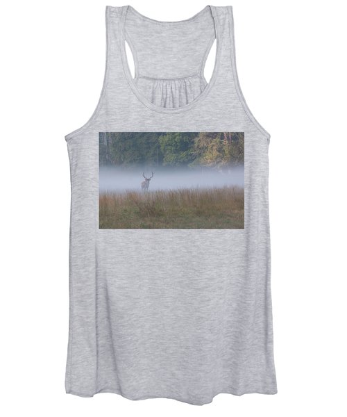 Bull Elk Disappearing In Fog - September 30 2016 Women's Tank Top