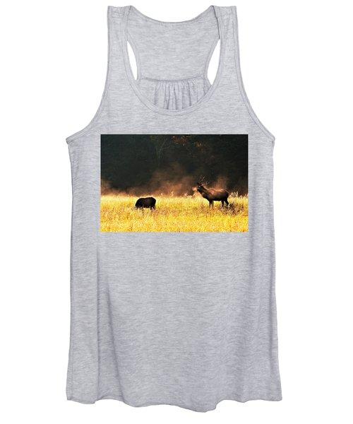 Bull With His Girl Women's Tank Top