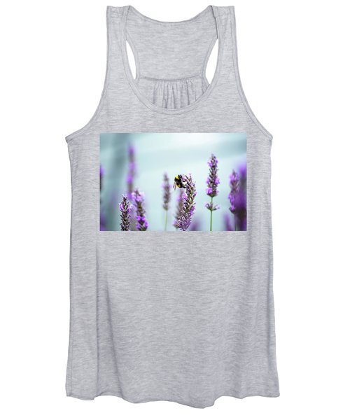 Bumblebee And Lavender Women's Tank Top