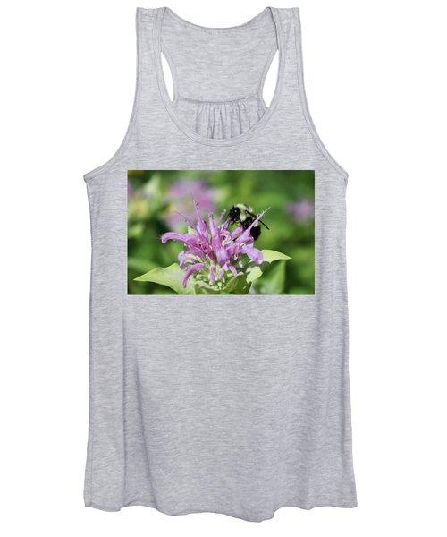 Bumblebee On Bee Balm Women's Tank Top