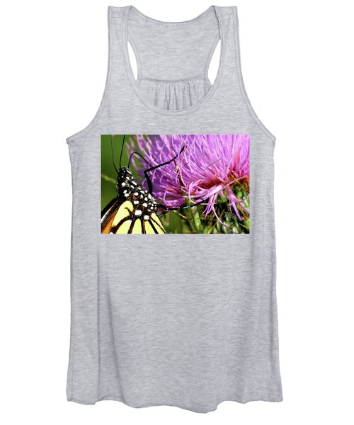 Butterfly On Bull Thistle Women's Tank Top