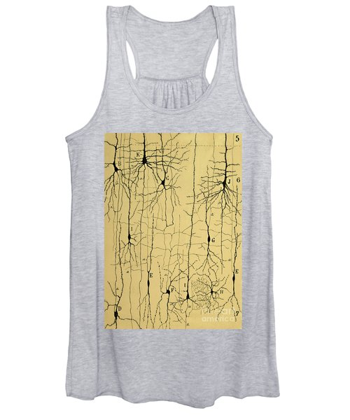 Cajal Drawing Of Microscopic Structure Of The Brain 1904 Women's Tank Top