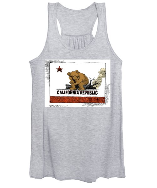 California Fire Bear Grieves Women's Tank Top