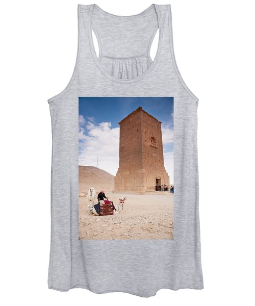 Camels And Camel Rider In Palmyra Women's Tank Top