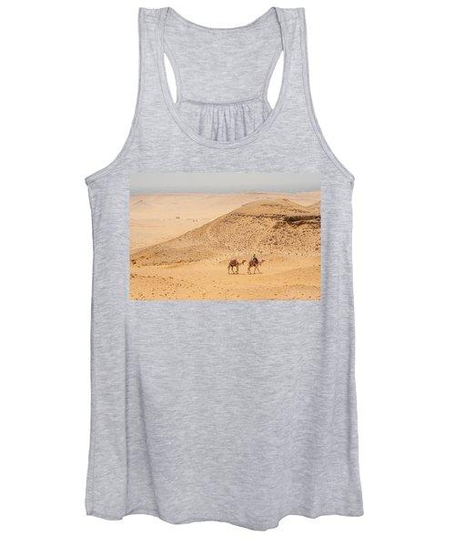 Camels In The Egyptian Desert Women's Tank Top