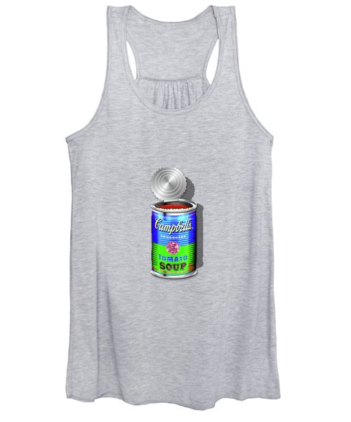 Campbell's Soup Revisited - Blue And Green Women's Tank Top