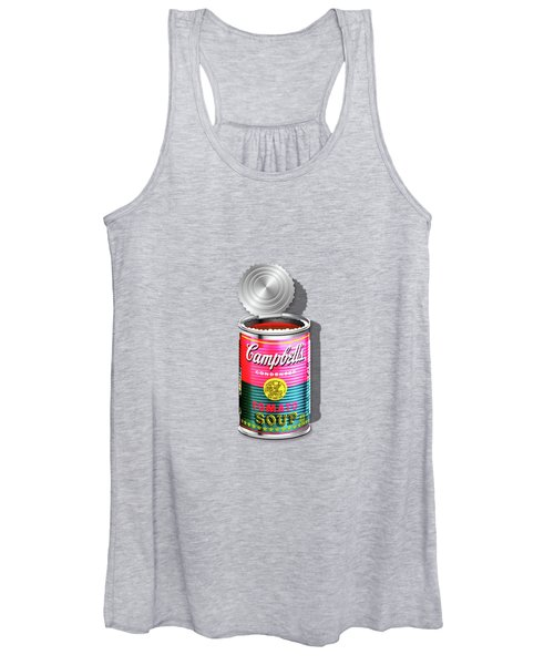 Campbell's Soup Revisited - Pink And Green Women's Tank Top