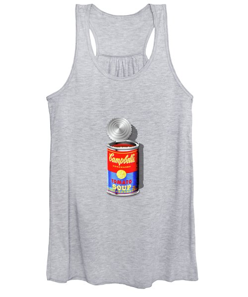 Campbell's Soup Revisited - Red And Blue   Women's Tank Top
