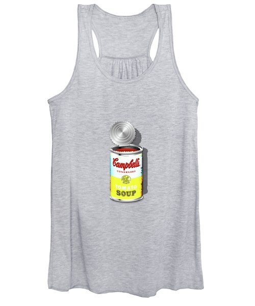 Campbell's Soup Revisited - White And Yellow Women's Tank Top