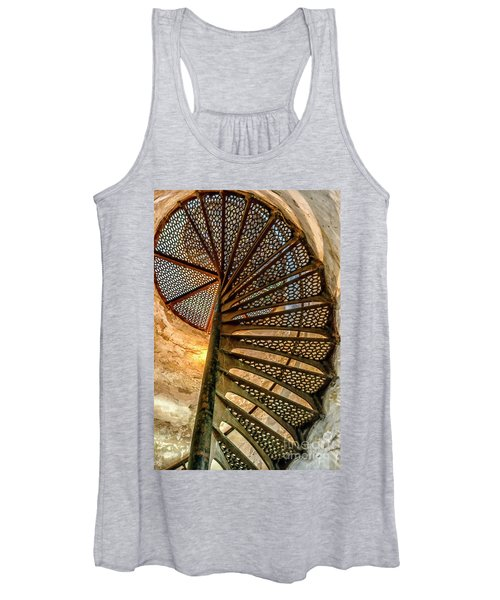 Cana Island Lighthouse Staircase Women's Tank Top