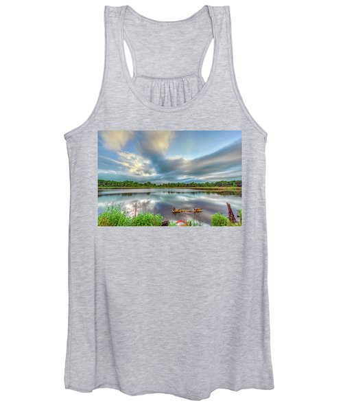 Canadian Geese On A Marylamd Pond Women's Tank Top