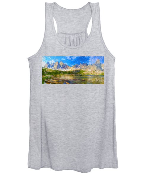 Canadian Rockies Panorama  Women's Tank Top