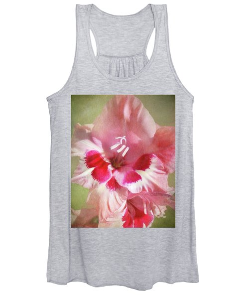 Candy Cane Gladiola Women's Tank Top