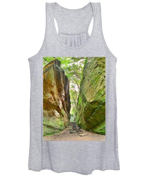Cantwell Cliffs Trail Hocking Hills Ohio Women's Tank Top