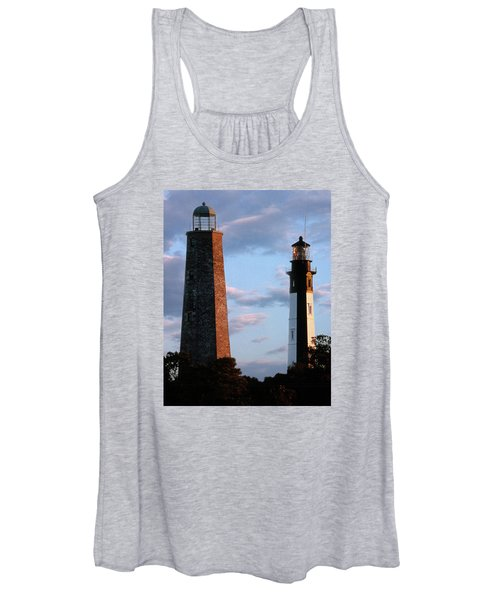 Cape Henry Lighthouses In Virginia Women's Tank Top