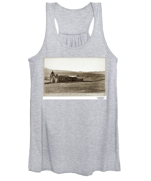 Carmel Mission, With Glimpse Of River And Bay Circa 1880 Women's Tank Top